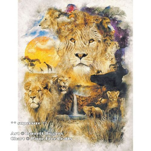 Circle of Life (SUPER SIZE) by Paine Free Crafts printed cross stitch chart